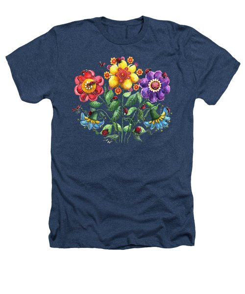 Ladybug Playground Heathers T-Shirt by Shelley Wallace Ylst