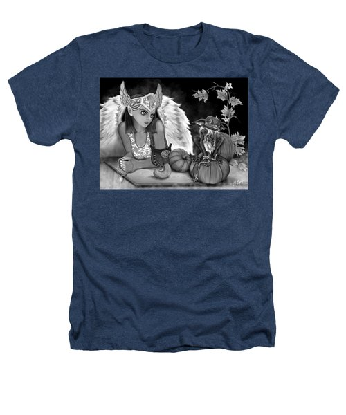 Let Me Explain - Black And White Fantasy Art Heathers T-Shirt