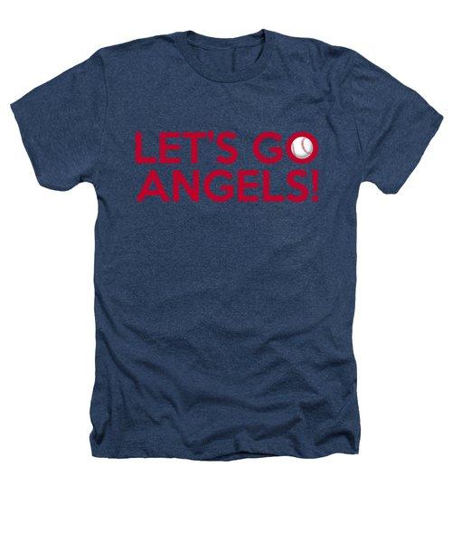 Let's Go Angels Heathers T-Shirt by Florian Rodarte