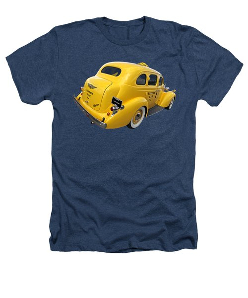 Let's Ride - Studebaker Yellow Cab Heathers T-Shirt by Gill Billington