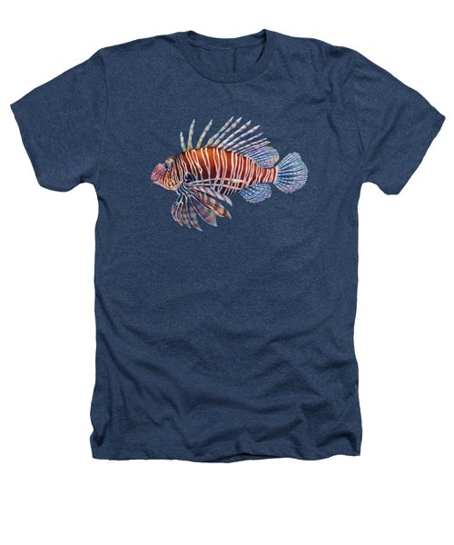 Lionfish In Black Heathers T-Shirt by Hailey E Herrera