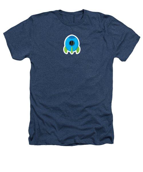 Little Blue Rocket Ship Heathers T-Shirt