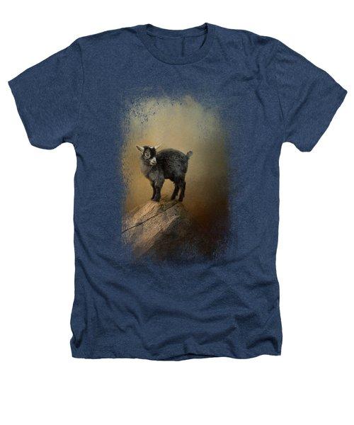 Little Rock Climber Heathers T-Shirt by Jai Johnson