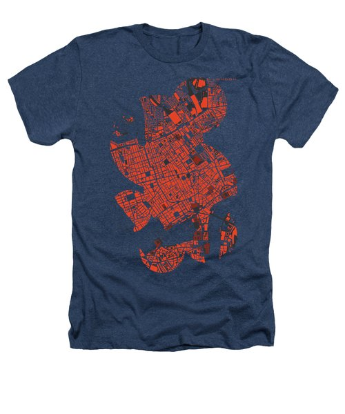 London Engraving Map Heathers T-Shirt by Jasone Ayerbe- Javier R Recco