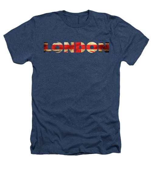 London Vintage British Flag Tee Heathers T-Shirt by Edward Fielding