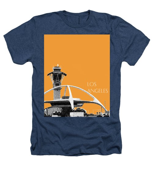 Los Angeles Skyline Lax Spider - Orange Heathers T-Shirt by DB Artist