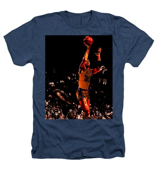 Magic Johnson Lean Back II Heathers T-Shirt by Brian Reaves