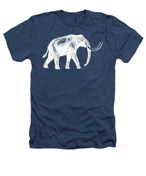Mammoth White Ink Tee Heathers T-Shirt by Edward Fielding