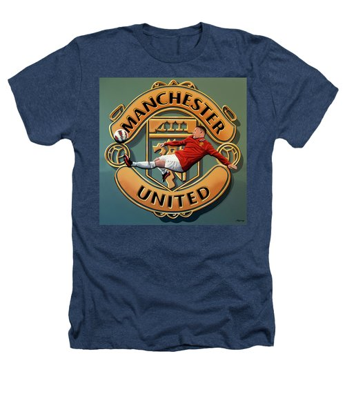 Manchester United Painting Heathers T-Shirt by Paul Meijering