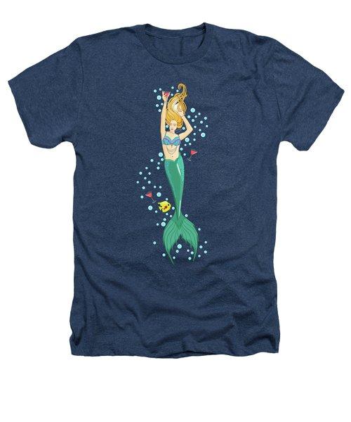 Martini Mermaid Heathers T-Shirt by Tracy Dixon