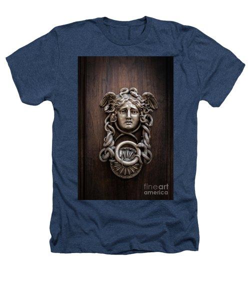 Medusa Head Door Knocker Heathers T-Shirt by Edward Fielding