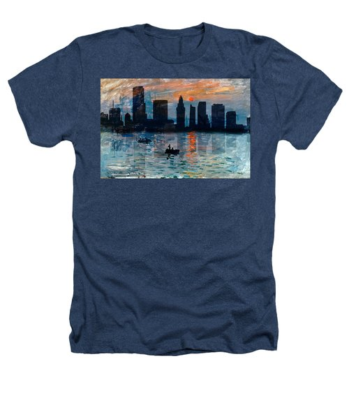 Miami Skyline 7 Heathers T-Shirt by Andrew Fare