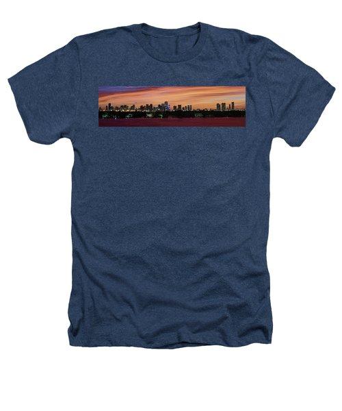 Miami Sunset Panorama Heathers T-Shirt by Gary Dean Mercer Clark