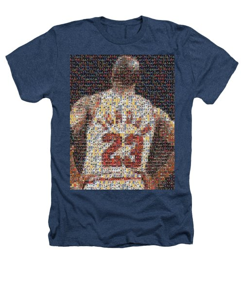 Michael Jordan Card Mosaic 2 Heathers T-Shirt