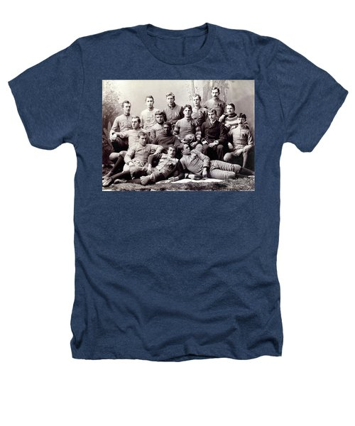 Michigan Wolverine Football Heritage 1890 Heathers T-Shirt by Daniel Hagerman