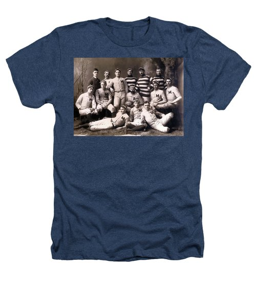 Michigan Wolverines Football Heritage 1888 Heathers T-Shirt by Daniel Hagerman