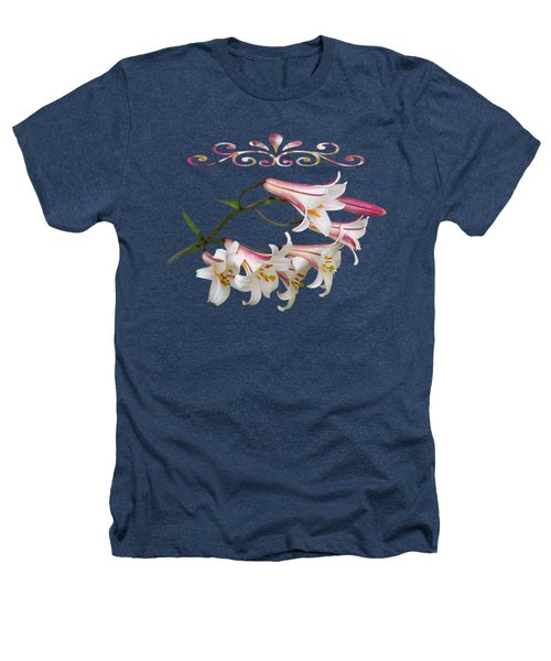 Midnight Radiance Heathers T-Shirt by Gill Billington