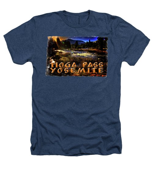 Mine Creek Between Lakes Ellery And Tioga Heathers T-Shirt by Roger Passman
