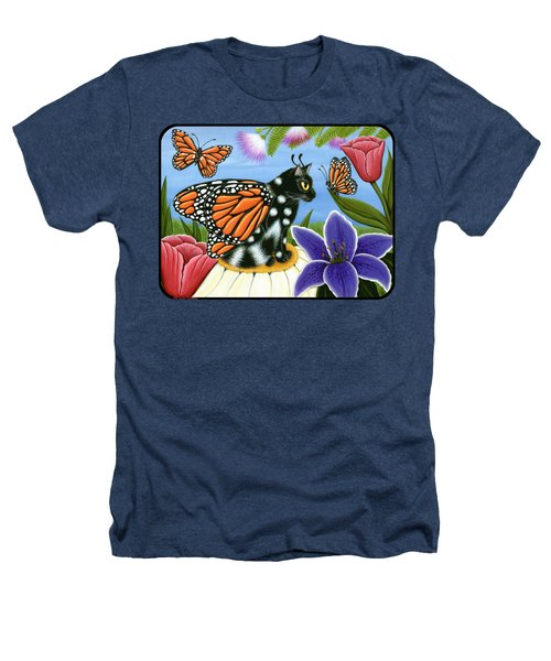 Monarch Butterfly Fairy Cat Heathers T-Shirt