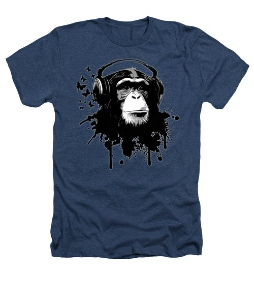 Monkey Business - Black Heathers T-Shirt by Nicklas Gustafsson