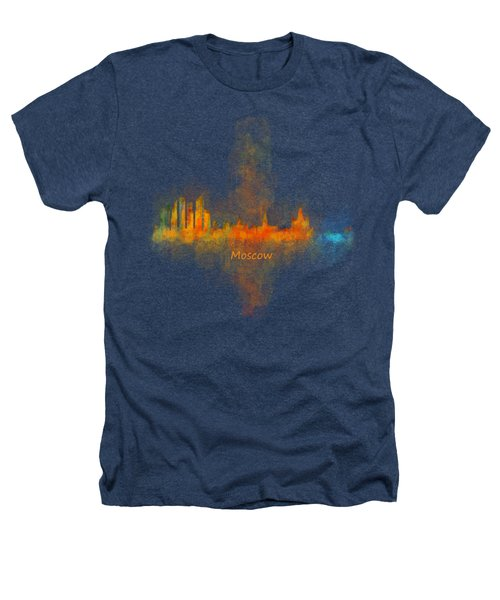 Moscow City Skyline Hq V4 Heathers T-Shirt by HQ Photo