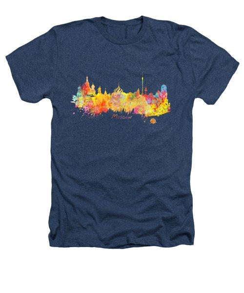 Moscow Skyline  Heathers T-Shirt by Justyna JBJart