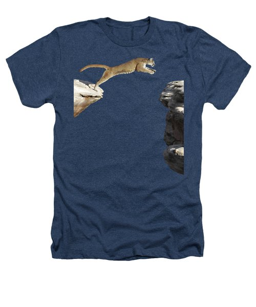 Mountain Lion Leaping Heathers T-Shirt