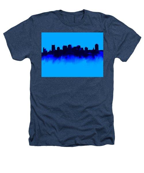 Nashville  Skyline Blue  Heathers T-Shirt by Enki Art