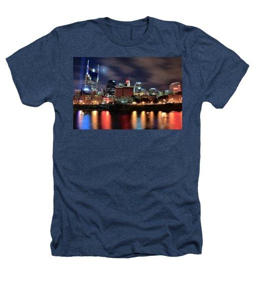 Nashville Skyline Heathers T-Shirt by Frozen in Time Fine Art Photography