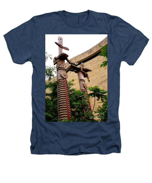 National Museum Of The American Indian 3 Heathers T-Shirt by Randall Weidner