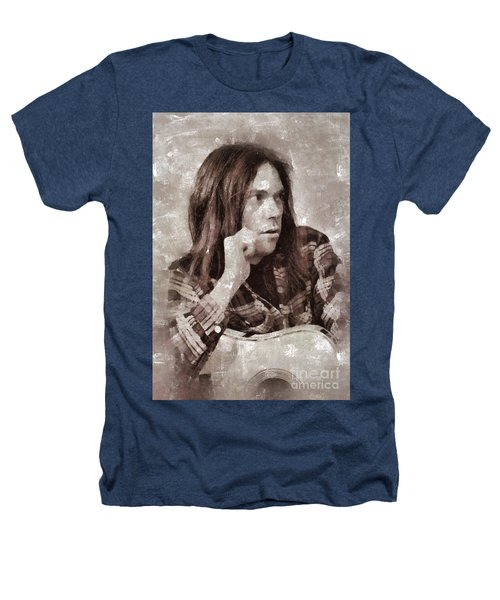 Neil Young By Mary Bassett Heathers T-Shirt