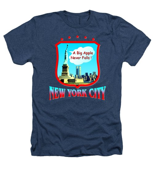 New York City Big Apple - Tshirt Design Heathers T-Shirt by Art America Online Gallery