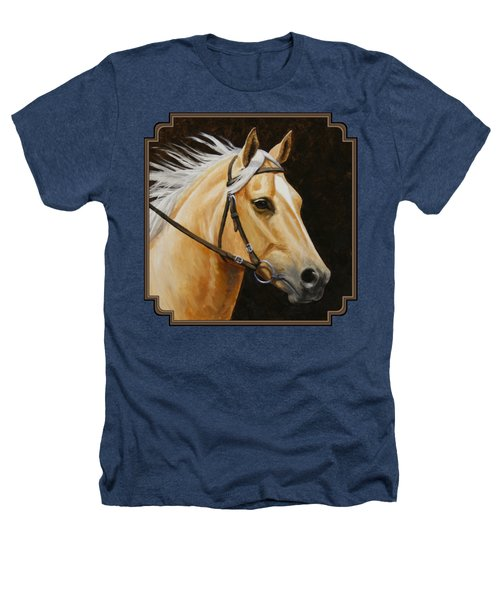 Palomino Horse Portrait Heathers T-Shirt by Crista Forest