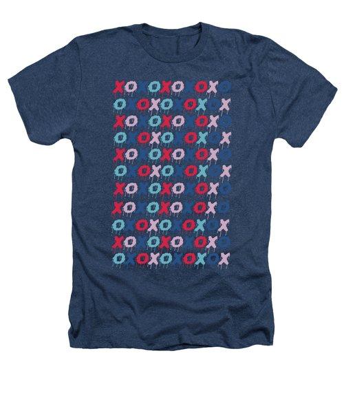Pattern X O  Heathers T-Shirt by Mark Ashkenazi