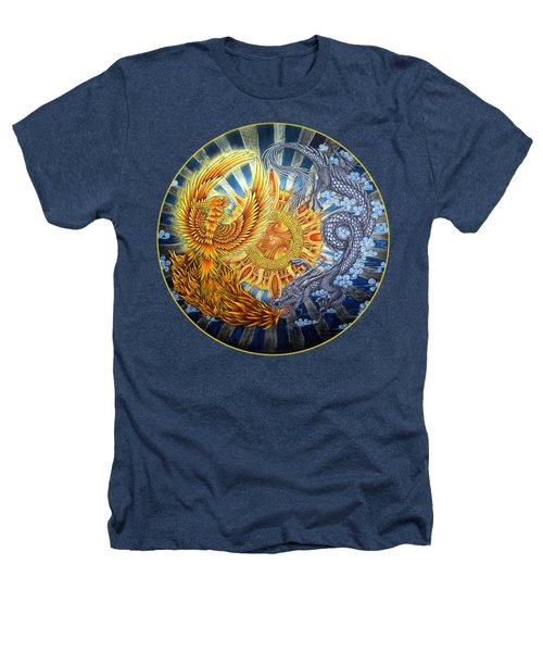 Phoenix And Dragon Heathers T-Shirt by Rebecca Wang