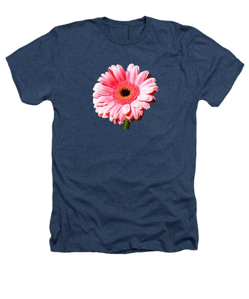 Pink Gerbera Heathers T-Shirt by Scott Carruthers
