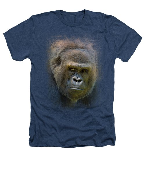Portrait Of A Gorilla Heathers T-Shirt by Jai Johnson