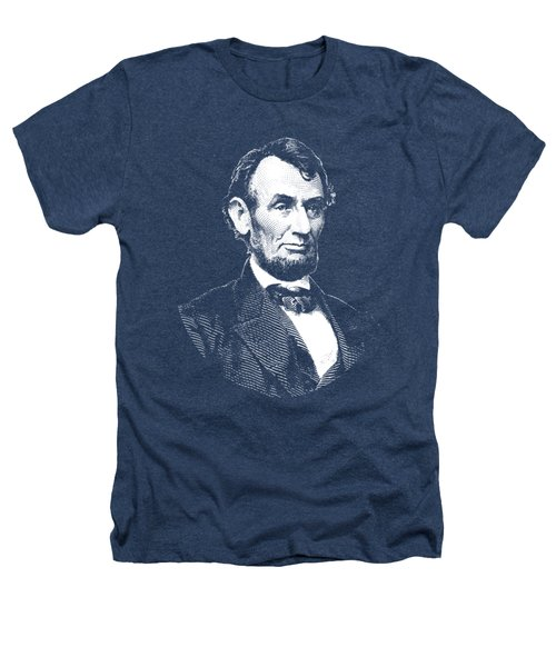 President Abraham Lincoln Graphic - Black And White Heathers T-Shirt by War Is Hell Store
