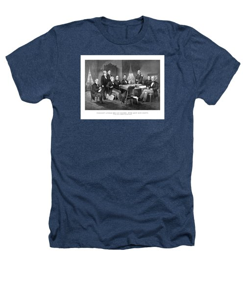 President Lincoln His Cabinet And General Scott Heathers T-Shirt