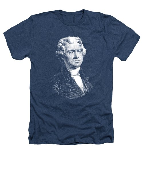 President Thomas Jefferson - Black And White Heathers T-Shirt by War Is Hell Store