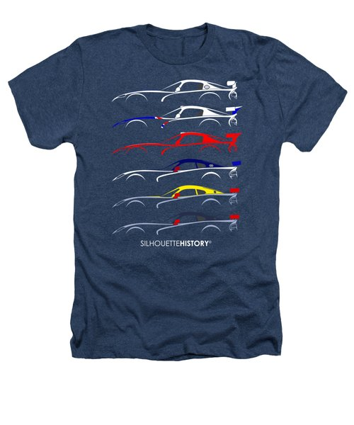 Racing Snake Silhouettehistory Heathers T-Shirt