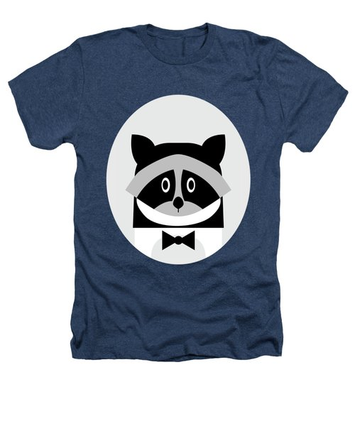Racoon Bw Heathers T-Shirt