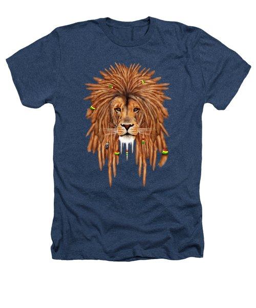 Rasta Lion Dreadlock Heathers T-Shirt