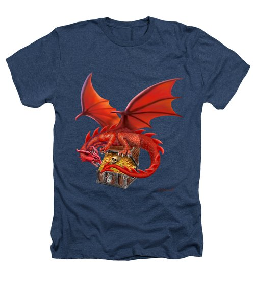 Red Dragon's Treasure Chest Heathers T-Shirt by Glenn Holbrook