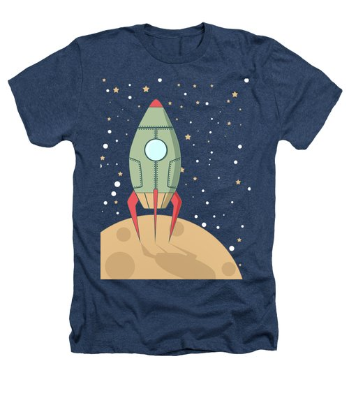 Retro Spaceship Heathers T-Shirt by Krokoneil