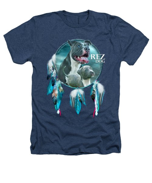 Rez Dog Cover Art Heathers T-Shirt by Carol Cavalaris