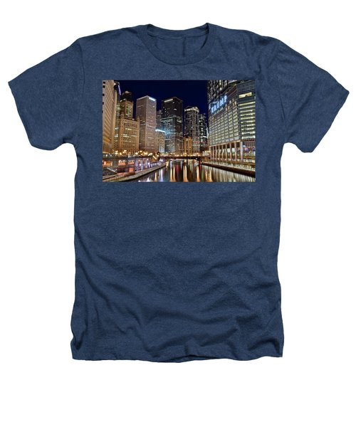 River View Of The Windy City Heathers T-Shirt by Frozen in Time Fine Art Photography
