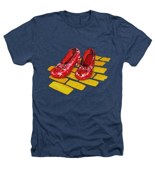 Ruby Slippers The Wonderful Wizard Of Oz Heathers T-Shirt by Irina Sztukowski