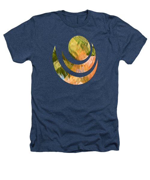 Salmon Mosaic Abstract Heathers T-Shirt by Christina Rollo