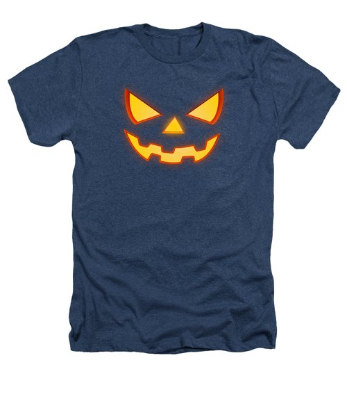 Scary Halloween Horror Pumpkin Face Heathers T-Shirt